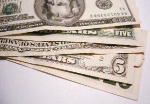 Stack of $5 bills